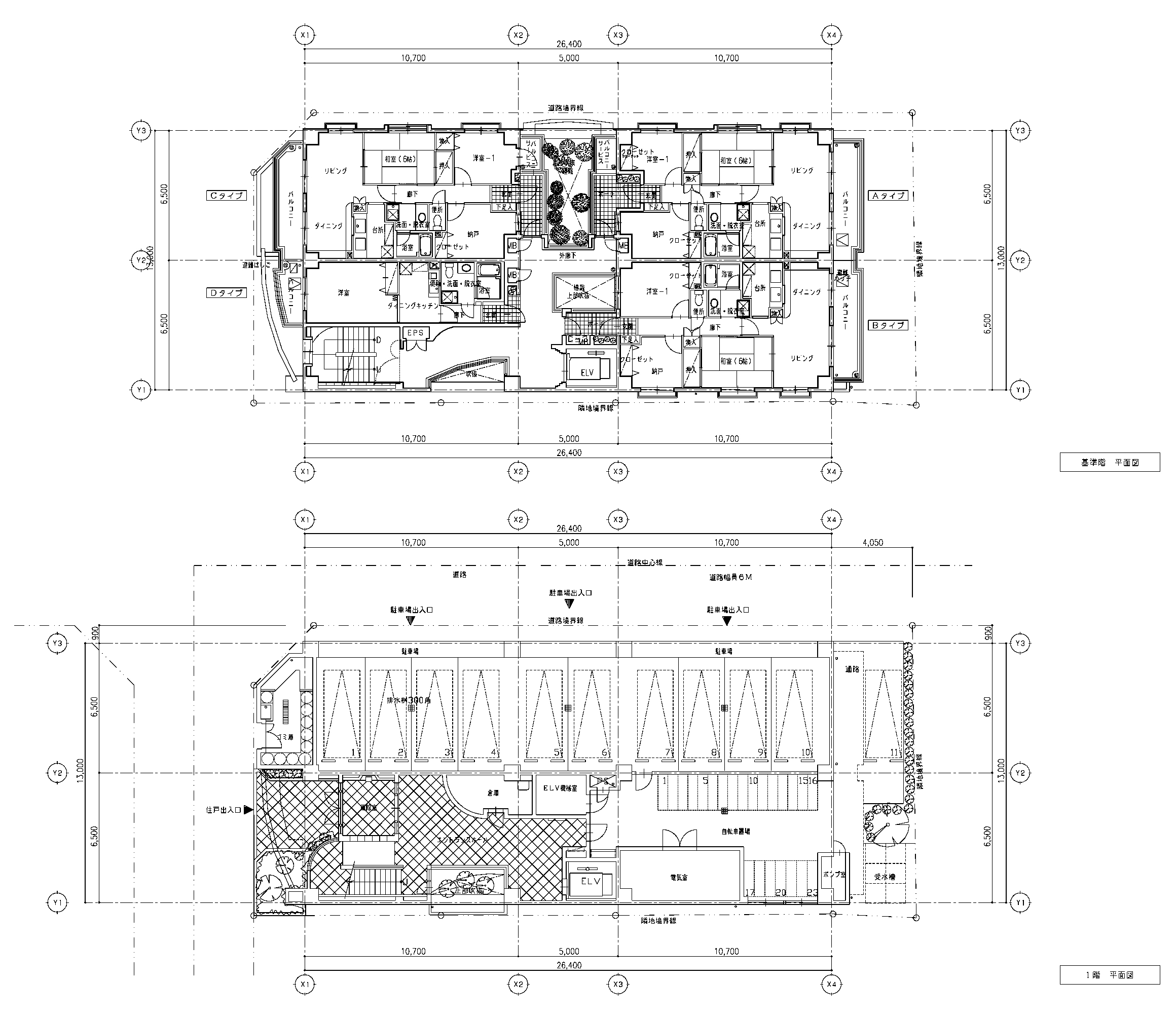 ラスベク変換サンプル:建築図面