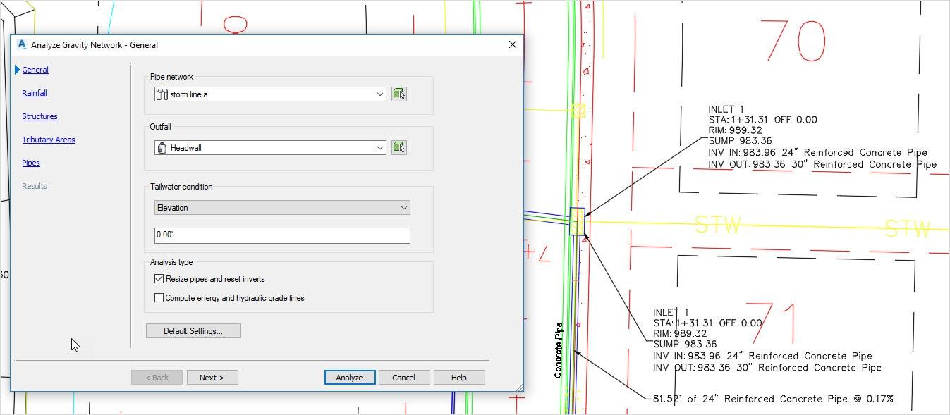配管のサイズ設定と解析