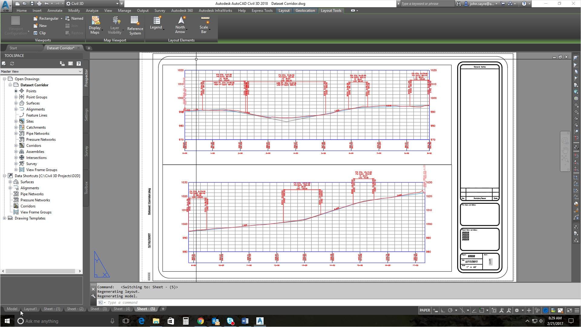 平面図と縦断シートの作成